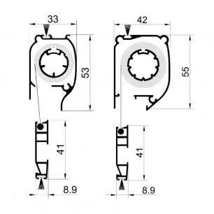 Mosquitera Enrollable Partida   Cabezal de 45 mm