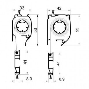 Mosquitera Enrollable Antipolen | Cabezal de 42 mm y 33 mm