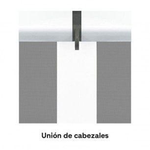 Junta de cabezales en 1 sola guía central | Mosquiteras.org
