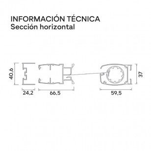 Mosquitera enrollable lateral Top técnica