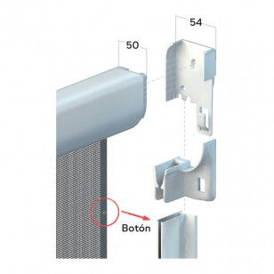 Mosquitera Enrollable Vertical Antiviento  cabezal de 54 mm
