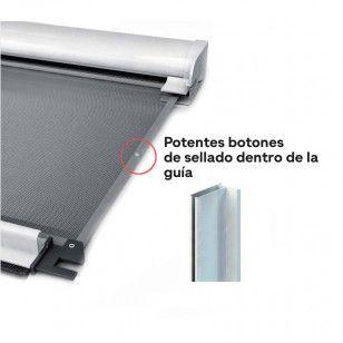 Mosquitera Enrollable Vertical Antiviento 43 | Sellado Abotonado
