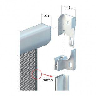 Mosquitera Enrollable Vertical Antiviento | Cabezal de 43 mm
