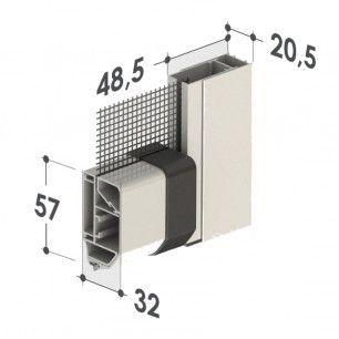 Mosquitera Enrollable Motorizada Vertical | Medidas Terminal - Lateral
