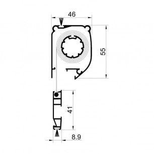 Mosquitera Enrollable alturas | Cabezal de 46 mm