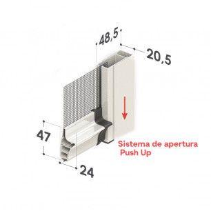 Mosquitera Enrollable Especial Antiviento Estor | Apertura Push-Up