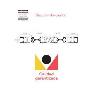 Mosquitera Plisada Reversible 22 | Sección Horizontal