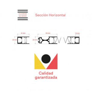 Mosquitera Plisada Lateral 22 | Sección Horizontal