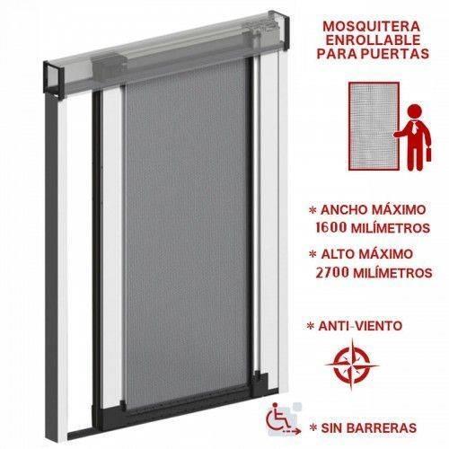 Mosquitera enrollable para puertas | Antiviento
