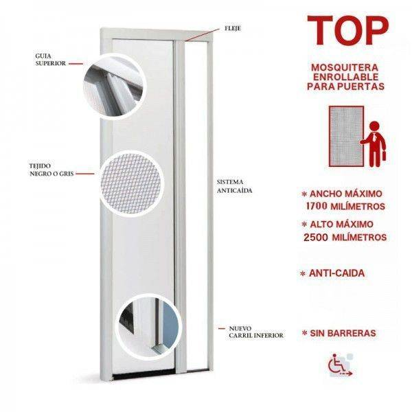 Mosquitera enrollable para puertas | Top