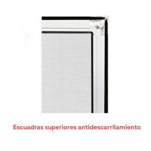 Mosquitera Corredera Metálica | Escuadra superior antidescarrilamiento