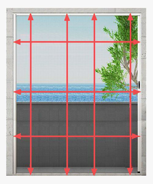 Medir mosquiteras plisadas para puertas y ventanas for Mosquiteras plisadas para puertas