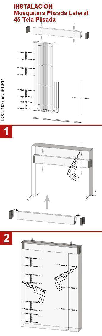 Manual para instalar la mosquitera plisada de 45 mm