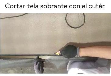 Cortar la tela para mosquiteras correderas