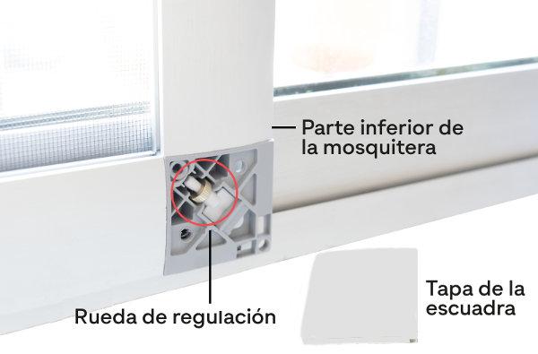 Ruedas regulables para la mosquitera corredera Antipolen