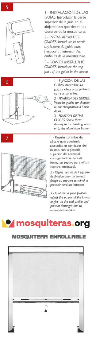 Instalar después de medir las mosquiteras enrollables | 2 Parte