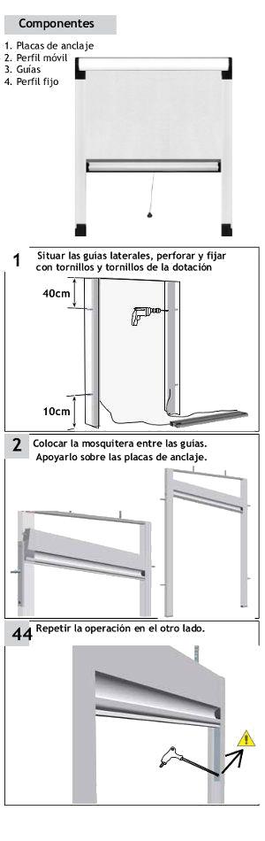 Guia de montage Plisada Vrtical de 22 mm - 1