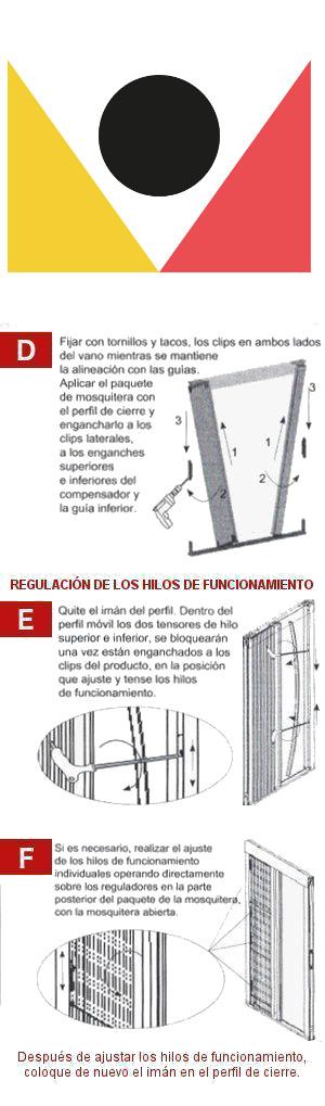 Guía para la instalación de la Mosquitera Plisada Lateral Para Puertas Cabezal de 0,22 - 2
