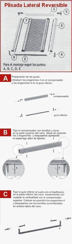 Guía de Instalacion Mosquitera Plisada Reversible 22 - 1