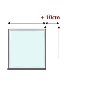 Cómo medir un estor pegado a la pared