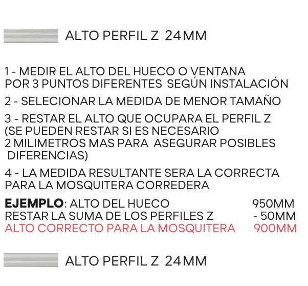 Ejemplo intalación guia perfil Z correrera   Mosquiteras ORG