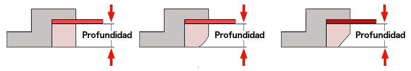 Medición profundidad para estores de instalación en vidrios